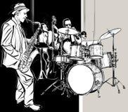 Ζώνη της Jazz Στοκ φωτογραφία με δικαίωμα ελεύθερης χρήσης