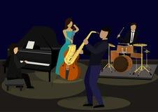 Ζώνη της Jazz ελεύθερη απεικόνιση δικαιώματος