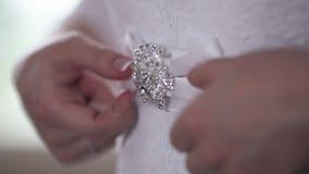 Ζώνη του γαμήλιου φορέματος απόθεμα βίντεο
