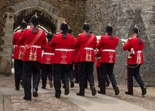 Ζώνη των βασιλικών Ουαλλών - που φεύγουν στοκ φωτογραφίες