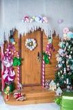 Ζώνη φωτογραφιών Χριστουγέννων στο εκλεκτής ποιότητας ύφος Στοκ εικόνα με δικαίωμα ελεύθερης χρήσης