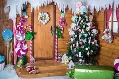 Ζώνη φωτογραφιών Χριστουγέννων στο εκλεκτής ποιότητας ύφος Στοκ Φωτογραφίες