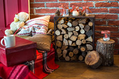 Ζώνη φωτογραφιών Χριστουγέννων στο εκλεκτής ποιότητας ύφος Στοκ Φωτογραφία
