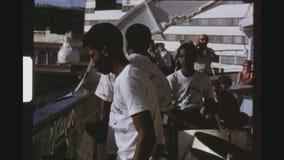 Ζώνη χάλυβα που αποδίδει σε ένα ρωσικό κρουαζιερόπλοιο απόθεμα βίντεο