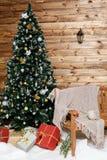 Ζώνη χειμερινών φωτογραφιών ζώνη χειμερινού γάμου για τη φωτογραφία αγροτικός διακοσμημένος Χριστούγεννα τοίχος στοκ εικόνα με δικαίωμα ελεύθερης χρήσης