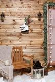 Ζώνη χειμερινών φωτογραφιών ζώνη χειμερινού γάμου για τη φωτογραφία αγροτικός διακοσμημένος Χριστούγεννα τοίχος στοκ εικόνες