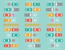 Ζώνη χώρων στάθμευσης απεικόνιση αποθεμάτων