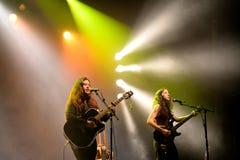 Ζώνη Kinsale στη συναυλία στη σκηνή υπερβολικής δημόσια προβολής στοκ φωτογραφίες