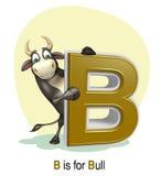 Ζώο αγροκτημάτων του Bull με το alphabate Στοκ εικόνες με δικαίωμα ελεύθερης χρήσης
