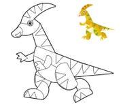 Ζώο κινούμενων σχεδίων - χρωματίζοντας σελίδα - απεικόνιση για τα παιδιά απεικόνιση αποθεμάτων