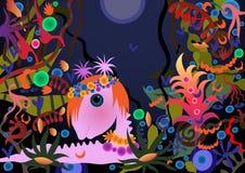 Ζώο παραμυθιού σε ένα μαγικό δάσος Στοκ φωτογραφία με δικαίωμα ελεύθερης χρήσης