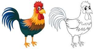 Ζώο Doodle για τον κόκκορα Στοκ εικόνες με δικαίωμα ελεύθερης χρήσης