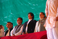 ηγέτες Πακιστάν ε insaf tehreek στοκ φωτογραφίες με δικαίωμα ελεύθερης χρήσης