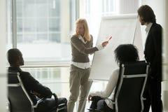 Ηγέτης επιχειρηματιών ή επιχειρησιακός προπονητής που παρουσιάζει στο Di στοκ φωτογραφία με δικαίωμα ελεύθερης χρήσης