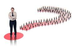 ηγέτης επιχειρησιακής έννοιας Στοκ Εικόνες