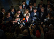 Ηγέτης του ριζικού κόμματος της Ουκρανίας Oleg Lyashko στοκ φωτογραφία με δικαίωμα ελεύθερης χρήσης