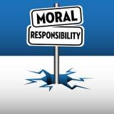 Ηθικά πιάτα ευθύνης διανυσματική απεικόνιση