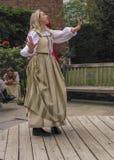 Ηθοποιός που εκτελεί τα παιχνίδια Shakespeare στον τόπο γεννήσεως Shakespeare στοκ εικόνες με δικαίωμα ελεύθερης χρήσης