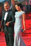 Ηθοποιός Όλγα Kabo με το σύζυγό της, και τα δύο χαμόγελα Στοκ Φωτογραφία