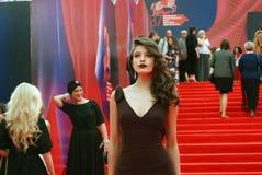 Ηθοποιός Anna Chipovskaya στο φεστιβάλ ταινιών της Μόσχας Στοκ Εικόνες