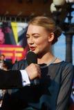 Ηθοποιός Oxana Akinshina στο φεστιβάλ ταινιών της Μόσχας Στοκ Εικόνες