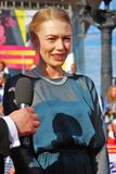 Ηθοποιός Oxana Akinshina στο φεστιβάλ ταινιών της Μόσχας Στοκ εικόνα με δικαίωμα ελεύθερης χρήσης