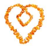 ηλέκτρινη καρδιά Στοκ Εικόνες