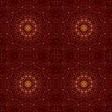 Ηλέκτρινο καλειδοσκόπιο σχεδίων ρητίνης πτώσεων Kalamkari απεικόνιση αποθεμάτων