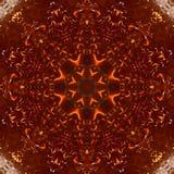 Ηλέκτρινο καλειδοσκόπιο σχεδίων ρητίνης πτώσεων r διανυσματική απεικόνιση