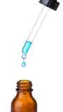 ηλέκτρινο μπλε υγρό απελ&e Στοκ εικόνες με δικαίωμα ελεύθερης χρήσης