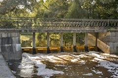 ηλέκτρινο νερό ποταμού χρώμ&alp Στοκ φωτογραφία με δικαίωμα ελεύθερης χρήσης