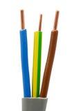 ηλεκτρικά ηλεκτρικά καλώδια καλωδίων Στοκ εικόνα με δικαίωμα ελεύθερης χρήσης
