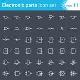 Ηλεκτρικά και ηλεκτρονικά εικονίδια, ηλεκτρικά σύμβολα διαγραμμάτων Ψηφιακή ηλεκτρονική, σύστημα Ansi πυλών λογικής, βρετανικό σύ απεικόνιση αποθεμάτων