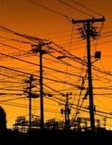 ηλεκτρικά καλώδια Στοκ Φωτογραφίες