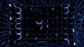 Ηλεκτρικά οκτάγωνα 4K νέου ελεύθερη απεικόνιση δικαιώματος