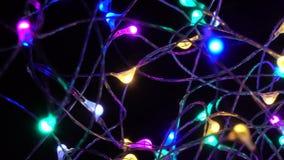 Ηλεκτρικές γιρλάντες του νέου έτους απόθεμα βίντεο