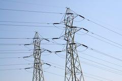 ηλεκτρικές γραμμές Στοκ φωτογραφία με δικαίωμα ελεύθερης χρήσης