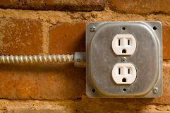 ηλεκτρική έξοδος Στοκ εικόνες με δικαίωμα ελεύθερης χρήσης