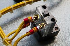Ηλεκτρική ανασκόπηση σύστασης μορίων εξοπλισμού. Στοκ φωτογραφία με δικαίωμα ελεύθερης χρήσης