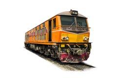 Ηλεκτρική ατμομηχανή diesel στις διαδρομές Στοκ Εικόνες