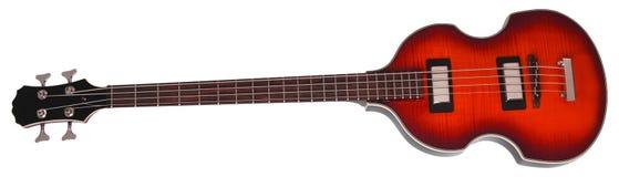 Ηλεκτρική βαθιά κιθάρα που απομονώνεται στοκ εικόνα με δικαίωμα ελεύθερης χρήσης