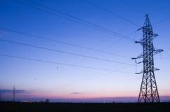 ηλεκτρική ενέργεια γραμμ Στοκ φωτογραφία με δικαίωμα ελεύθερης χρήσης