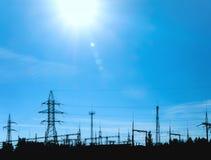 ηλεκτρική ενέργεια φυτών Στοκ φωτογραφία με δικαίωμα ελεύθερης χρήσης