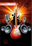 ηλεκτρική κιθάρα ανασκόπησης διανυσματική απεικόνιση