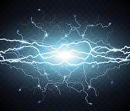 Ηλεκτρική λάμψη της αστραπής ελαφριά βροντή ελεύθερη απεικόνιση δικαιώματος
