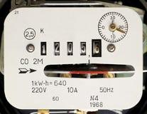 ηλεκτρική μέτρηση ενεργε Στοκ φωτογραφία με δικαίωμα ελεύθερης χρήσης