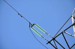 ηλεκτρική μετάδοση γραμμών τεμαχίων Στοκ φωτογραφία με δικαίωμα ελεύθερης χρήσης