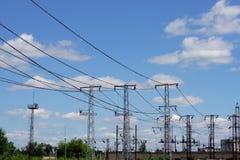ηλεκτρική μετάδοση γραμμών Στοκ Φωτογραφία