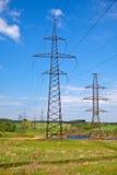 ηλεκτρική μετάδοση γραμμών Στοκ φωτογραφία με δικαίωμα ελεύθερης χρήσης