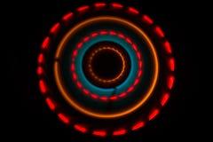 ηλεκτρική μουσική απεικόνισης κιθάρων έννοιας Καμμένος βινύλιο Freezelight στο σκοτεινό βινύλιο παιχνιδιού υποβάθρου ή περιστροφι στοκ φωτογραφία